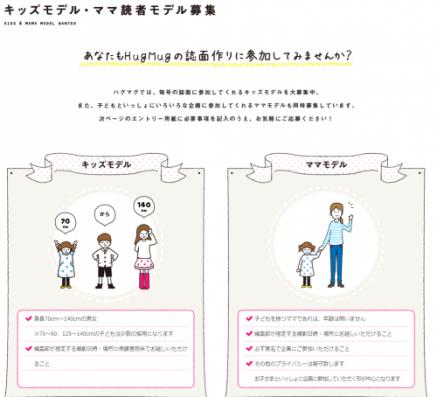 キッズモデル・ママ読者モデル募集 Hug Mug.
