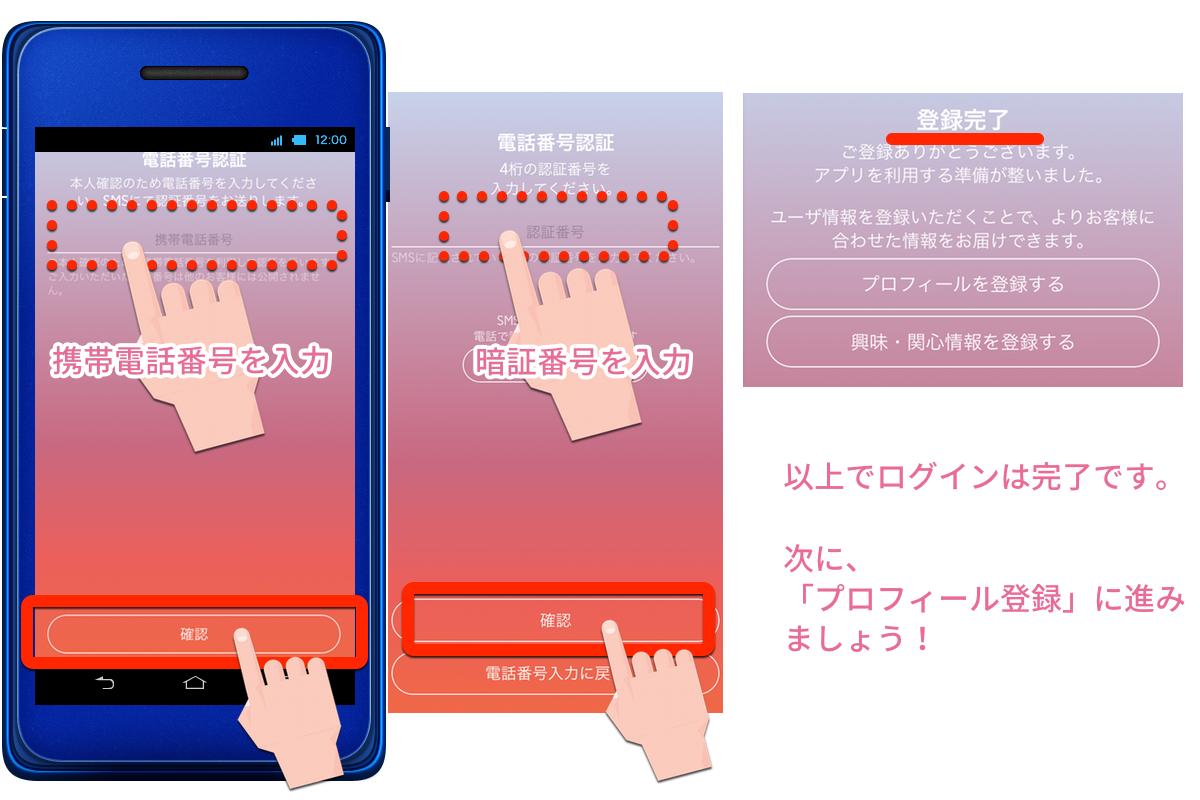 電話番号認証-楽天スーパーポイントスクリーン