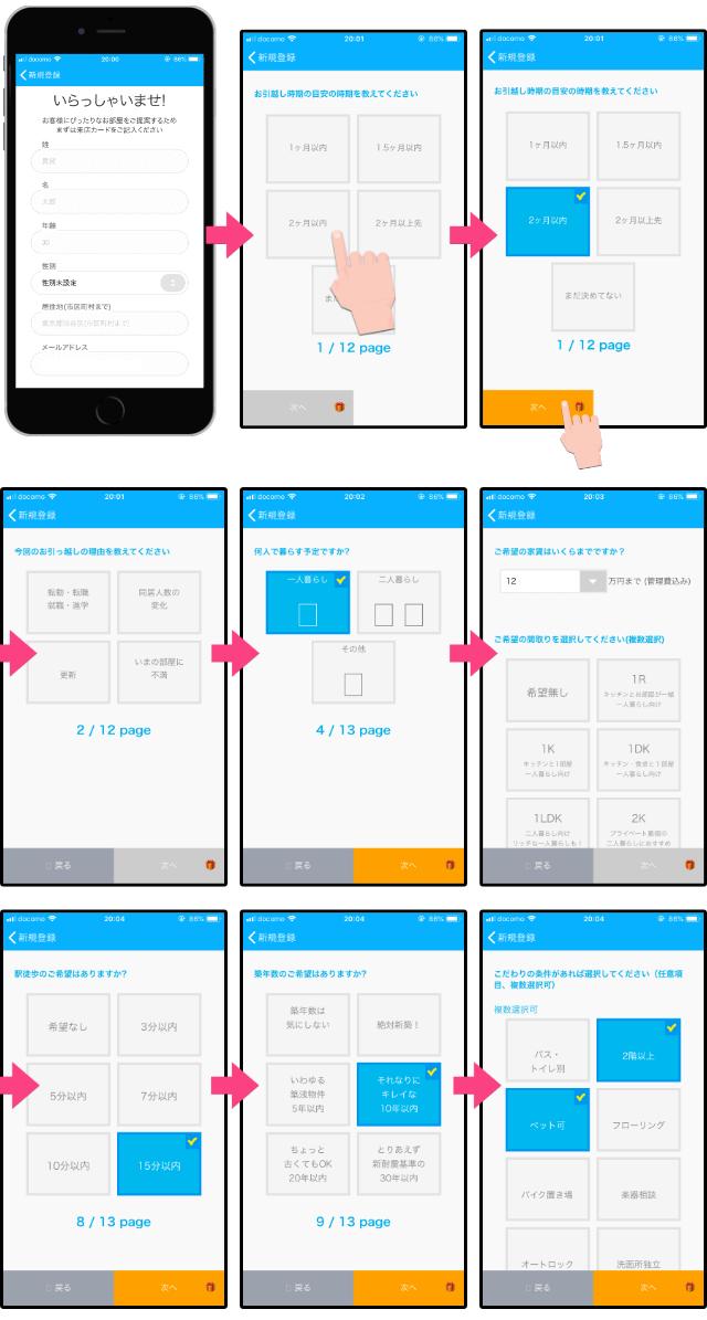 「登録方法」ietty(イエッティ)オンライン不動産賃貸物件アプリ