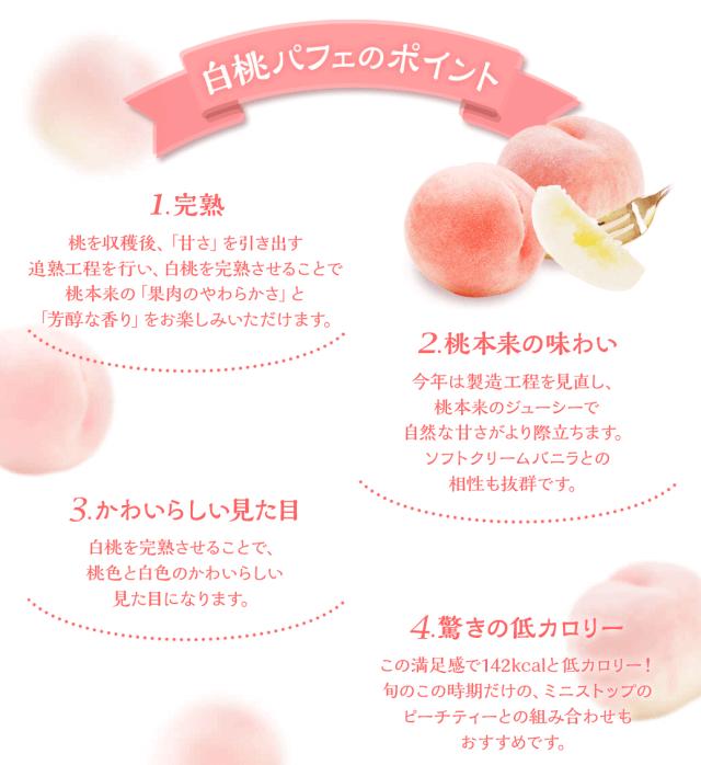 白桃パフェ商品情報