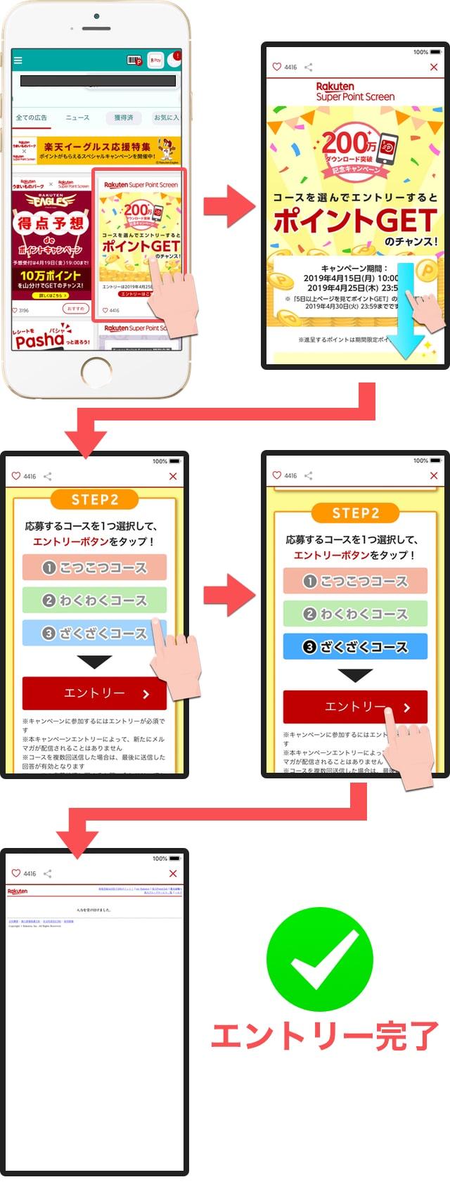 楽天スーパーポイントスクリーンアプリ・キャンペーン参加手順