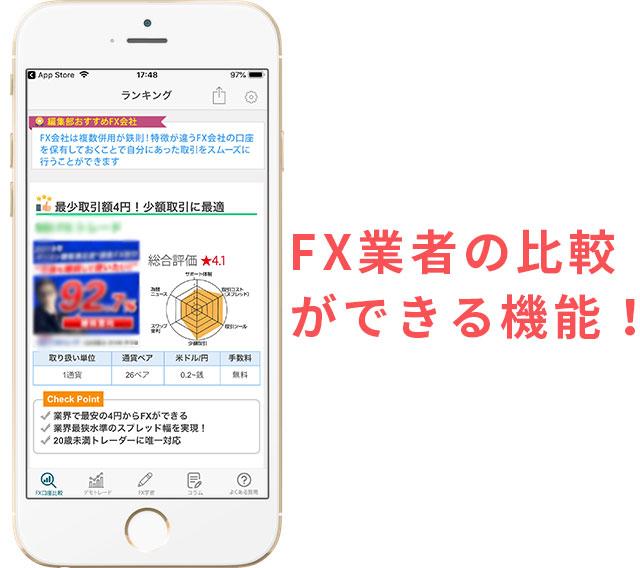 FX口座業者比較「FX初心者ガイドアプリ」
