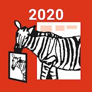 年賀状・年賀状印刷 は しまうま年賀2020